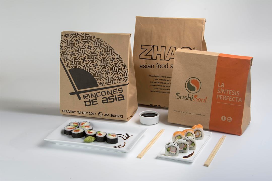 Bolsas para delivery de sushi