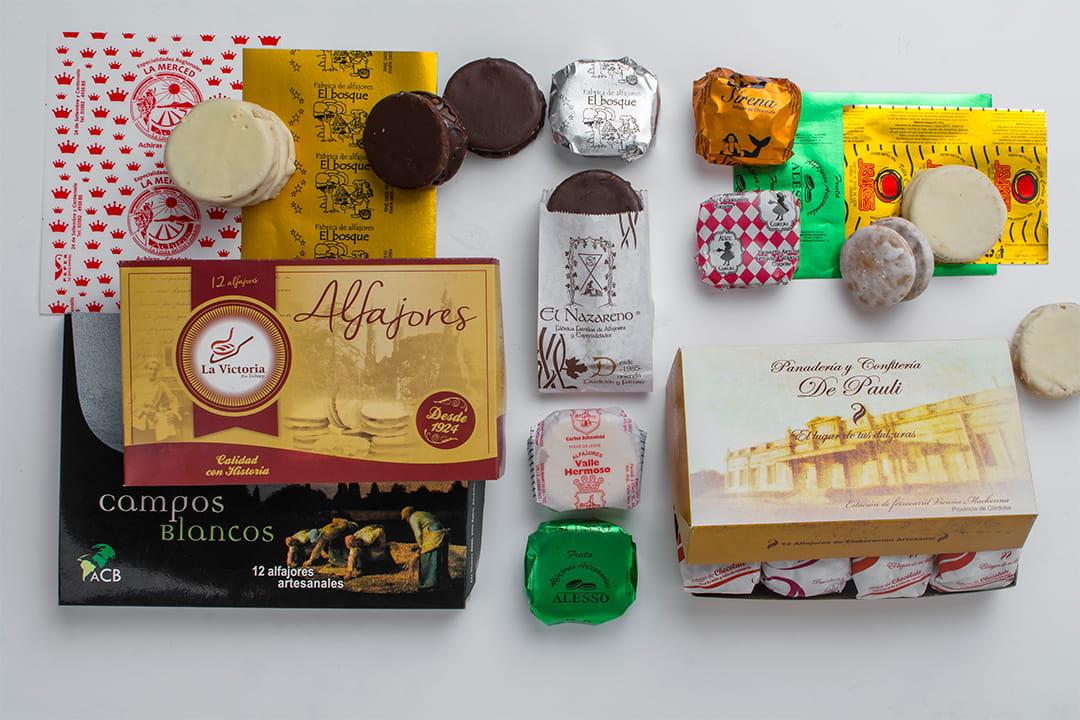 Papel y bolsitas para alfajores y chocolates
