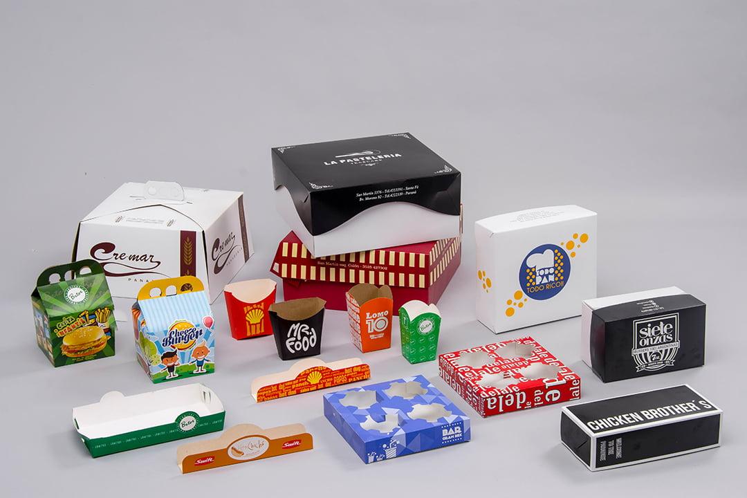 Cajas y estuches para panadería, gastronomía, cines y comercios en general
