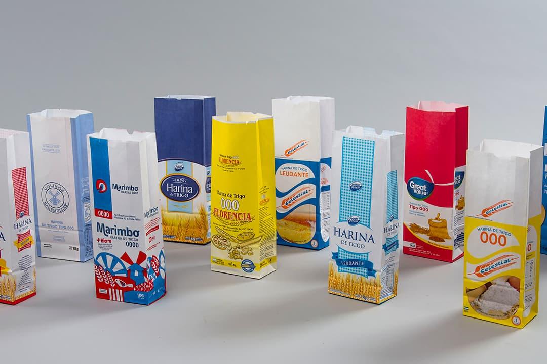 Bolsas fondo cuadrado para harinas y alimentos