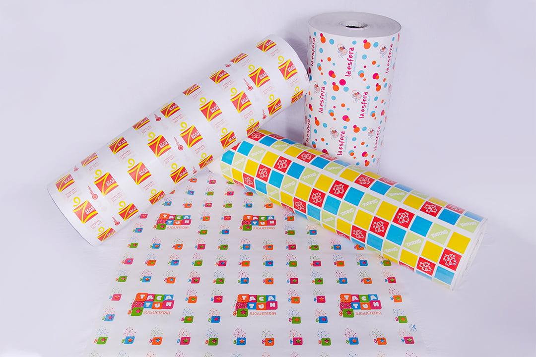 Papeles impresos en bobinas y cortados